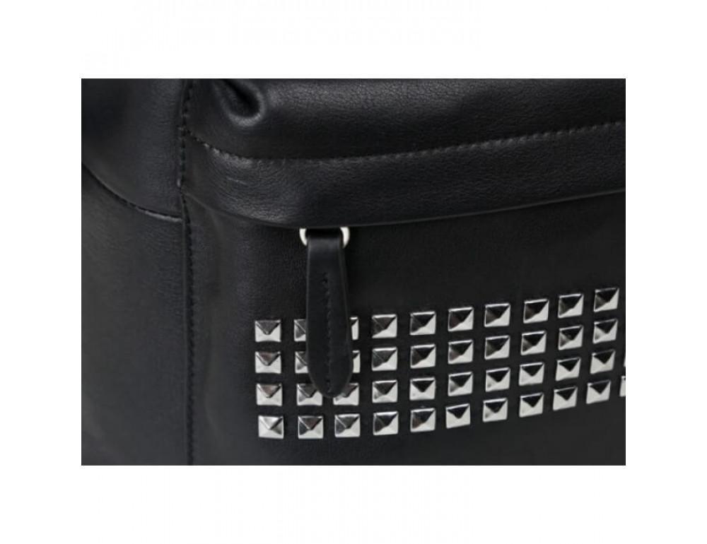 Городской кожаный рюкзак Tiding Bag B3-011A чёрный - Фото № 3