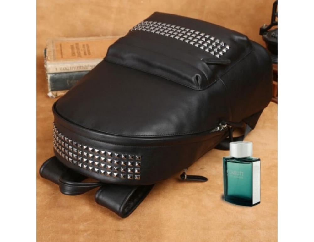 Городской кожаный рюкзак Tiding Bag B3-011A чёрный - Фото № 9