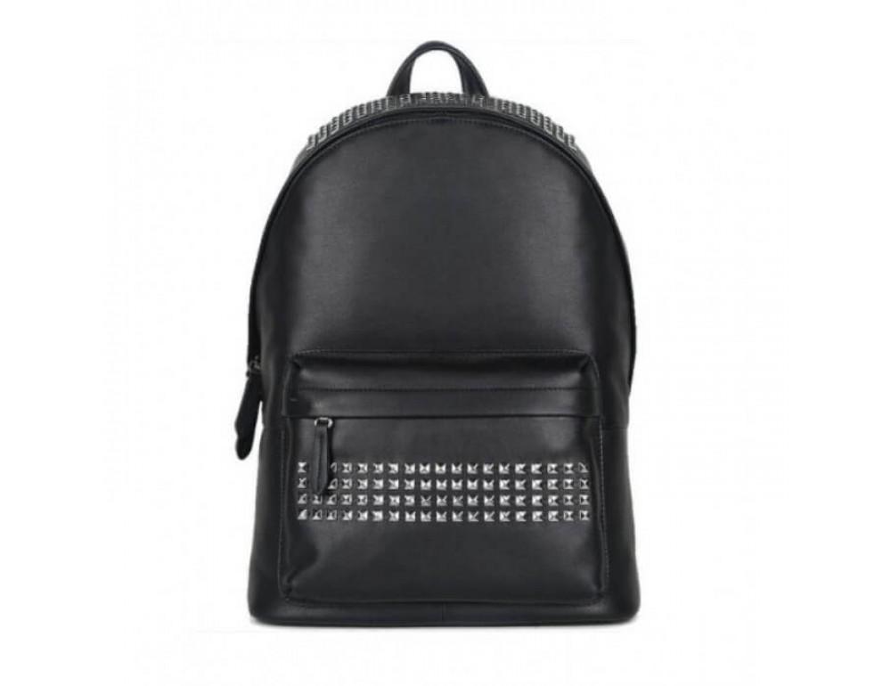 Городской кожаный рюкзак Tiding Bag B3-011A чёрный - Фото № 15
