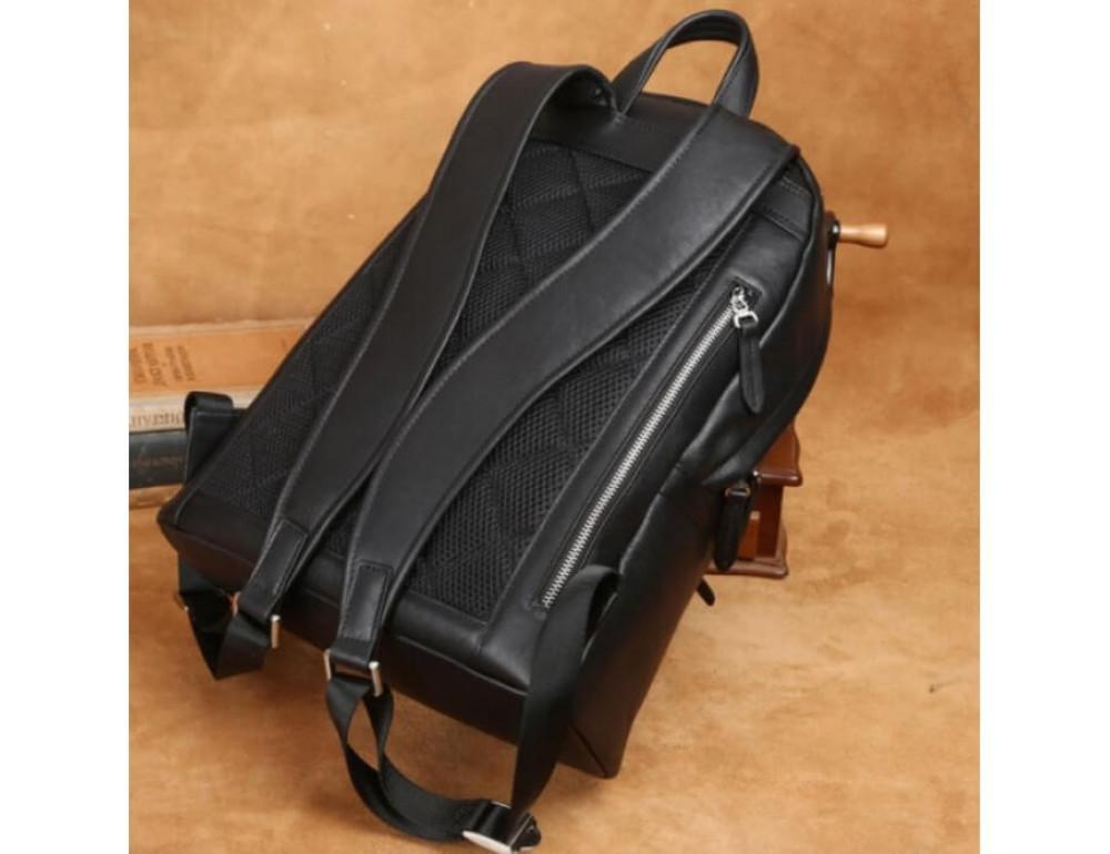 Городской кожаный рюкзак Tiding Bag B3-011A чёрный - Фото № 14