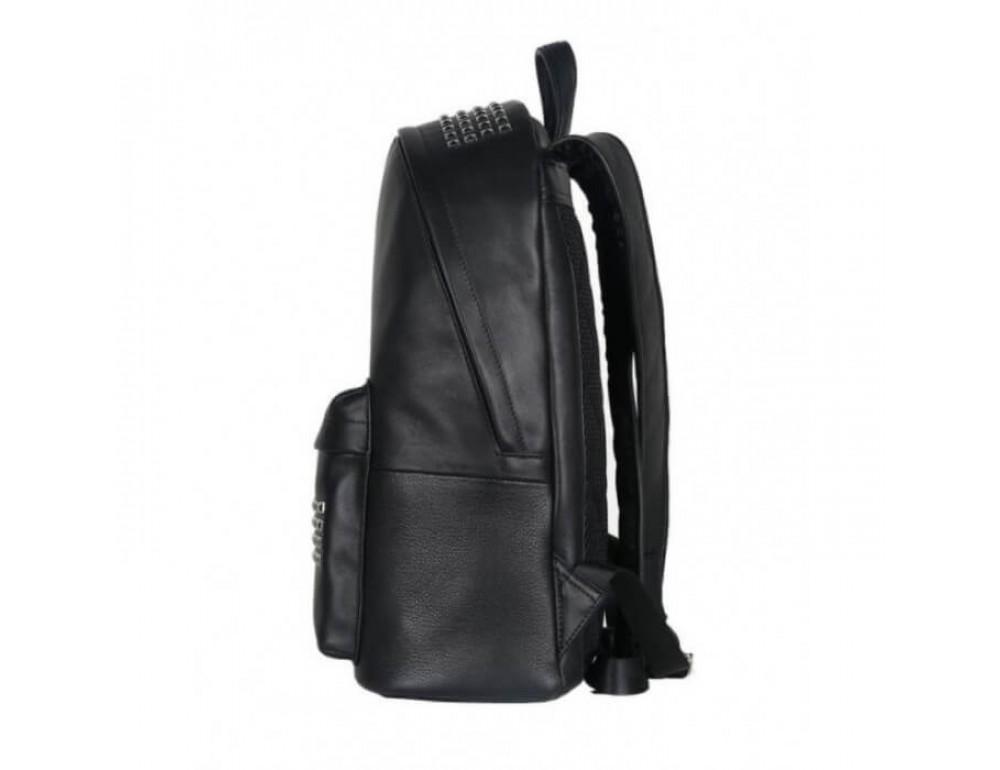 Городской кожаный рюкзак Tiding Bag B3-011A чёрный - Фото № 19