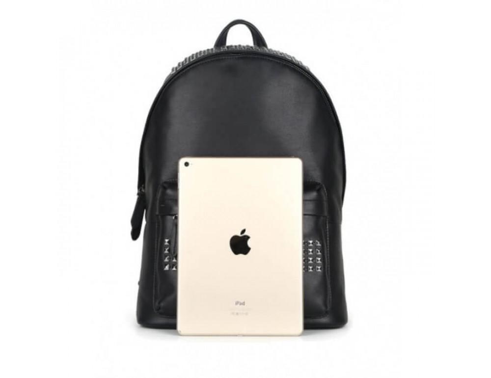Городской кожаный рюкзак Tiding Bag B3-011A чёрный - Фото № 13