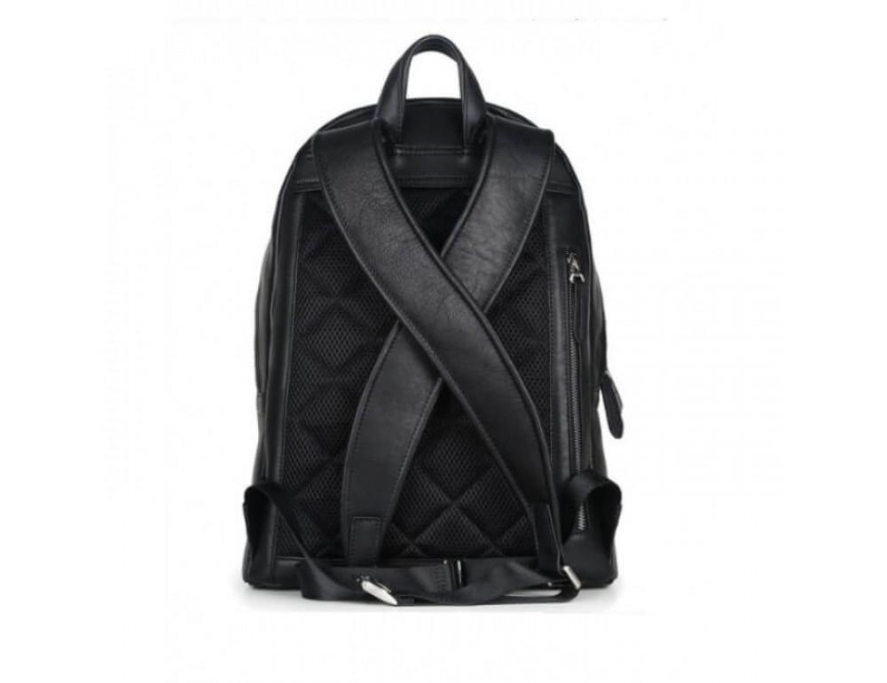Городской кожаный рюкзак Tiding Bag B3-011A чёрный - Фото № 11