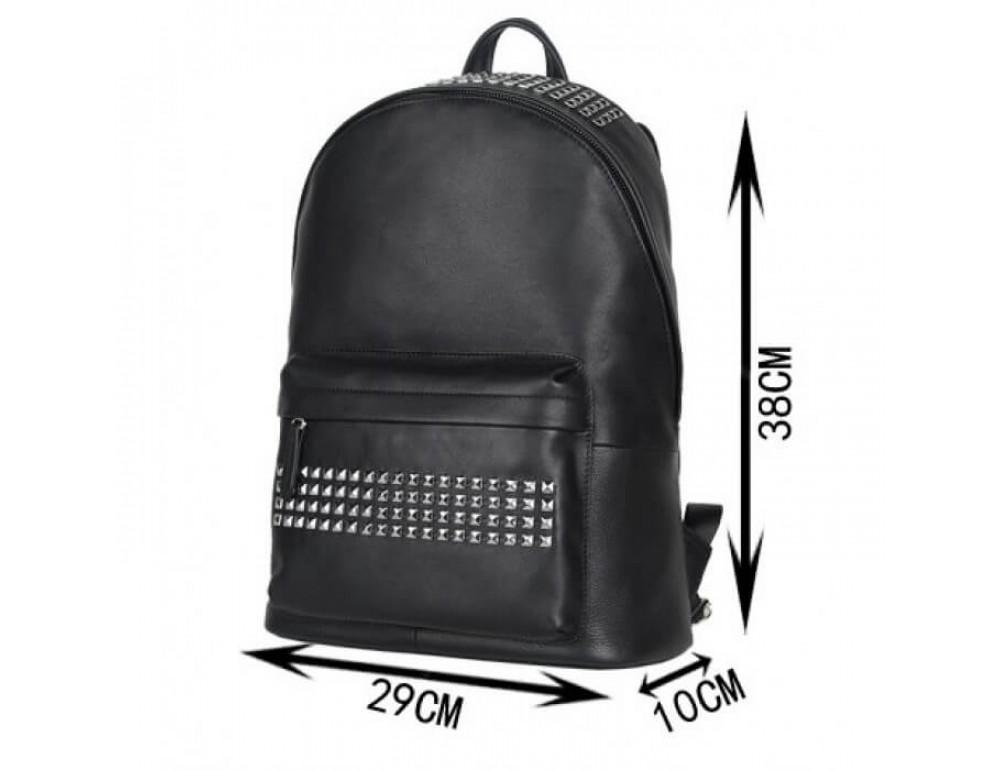 Городской кожаный рюкзак Tiding Bag B3-011A чёрный - Фото № 17
