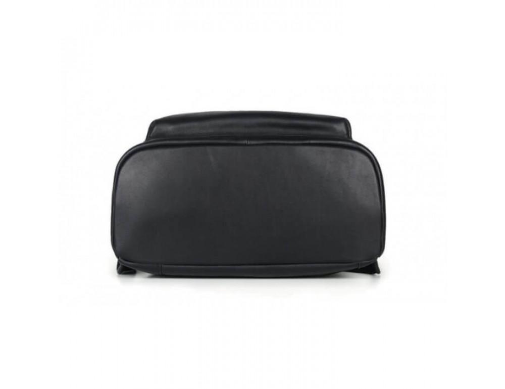 Городской кожаный рюкзак Tiding Bag B3-011A чёрный - Фото № 16