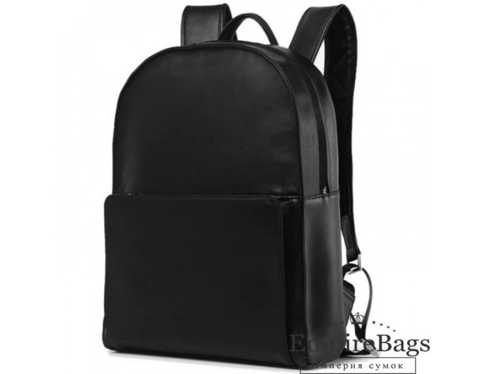 Городской кожаный рюкзак Tiding Bag B3-049A чёрный