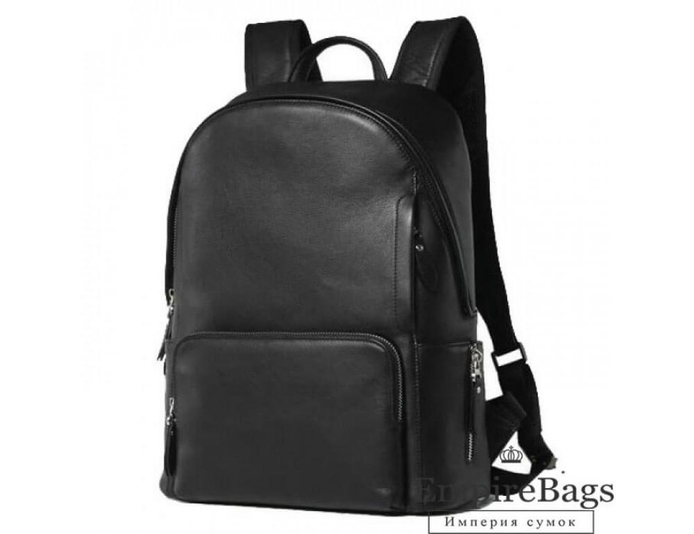 Міський шкіряний рюкзак Tiding Bag B3-122A чорний