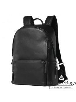 Городской кожаный рюкзак Tiding Bag B3-122A чёрный