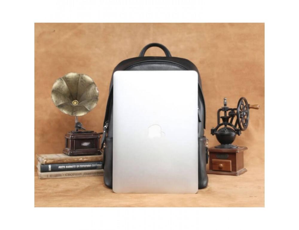 Городской кожаный рюкзак Tiding Bag B3-122A чёрный - Фото № 2