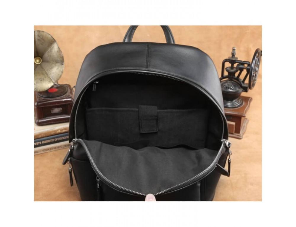 Городской кожаный рюкзак Tiding Bag B3-122A чёрный - Фото № 3
