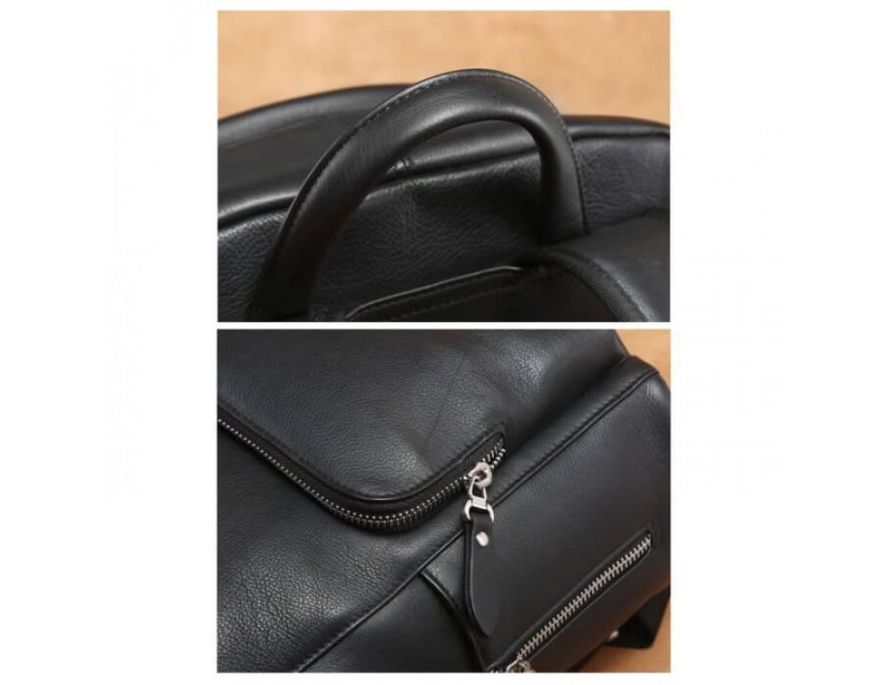 Городской кожаный рюкзак Tiding Bag B3-122A чёрный - Фото № 6