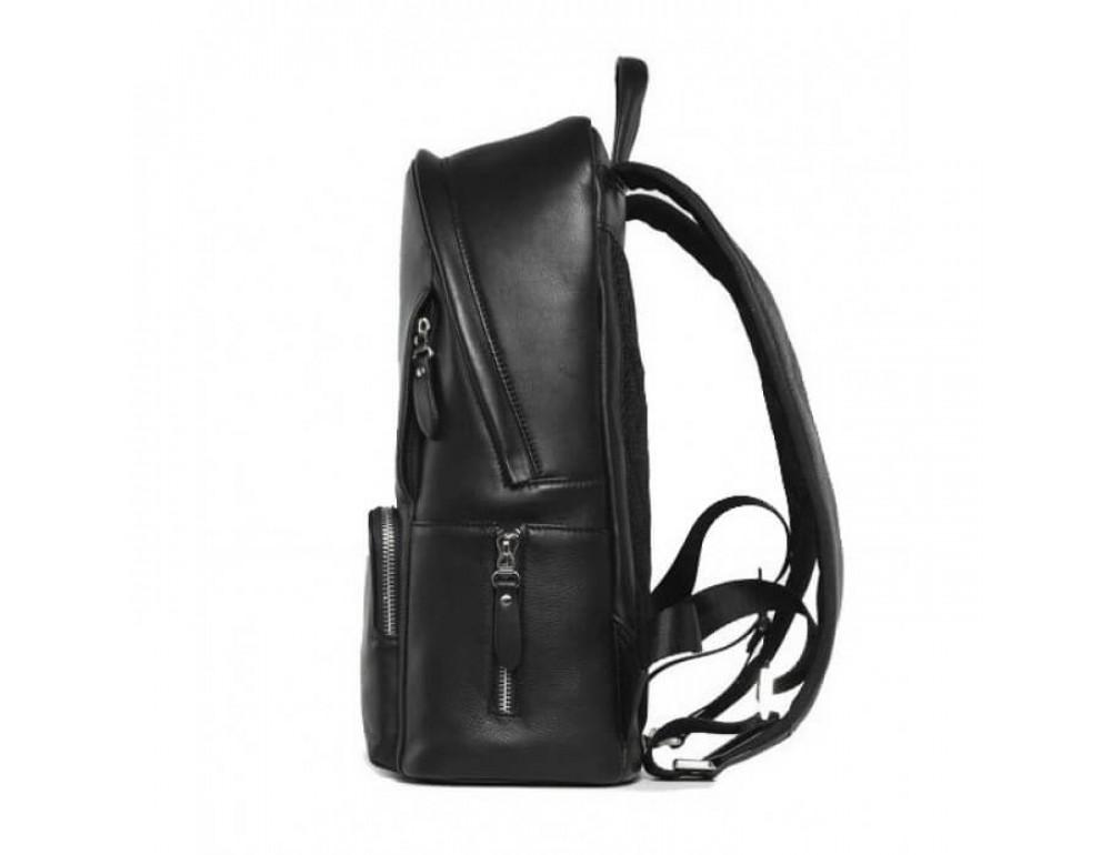 Городской кожаный рюкзак Tiding Bag B3-122A чёрный - Фото № 9