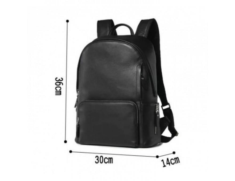 Городской кожаный рюкзак Tiding Bag B3-122A чёрный - Фото № 11