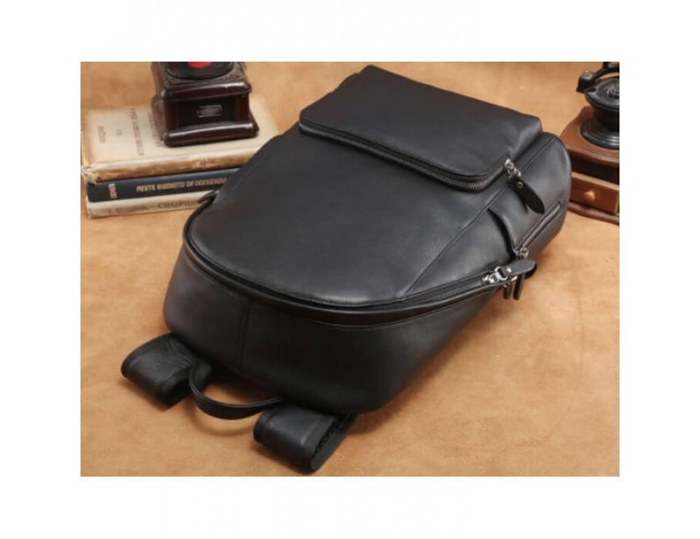 Городской кожаный рюкзак Tiding Bag B3-122A чёрный - Фото № 14
