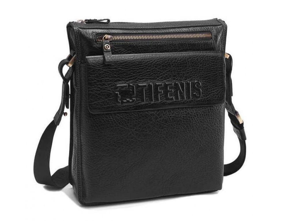Чоловіча сумка-месенджер Tifenis Tf69978-2A чорна - Фотографія № 1