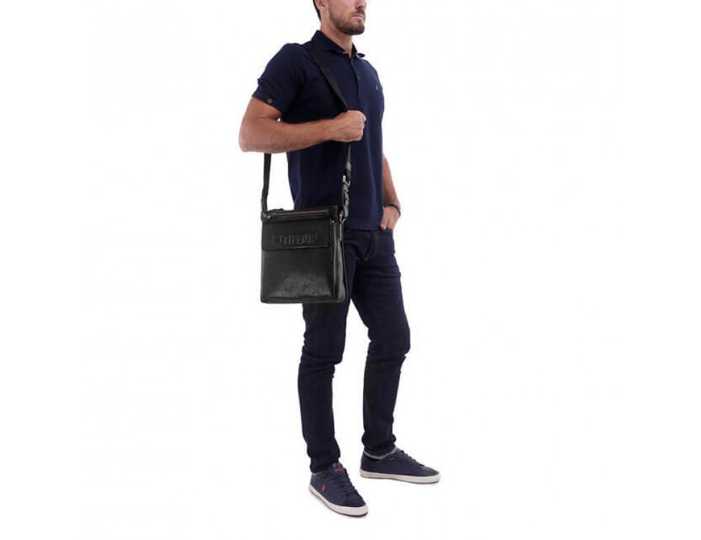 Чоловіча сумка-месенджер Tifenis Tf69978-2A чорна - Фотографія № 2