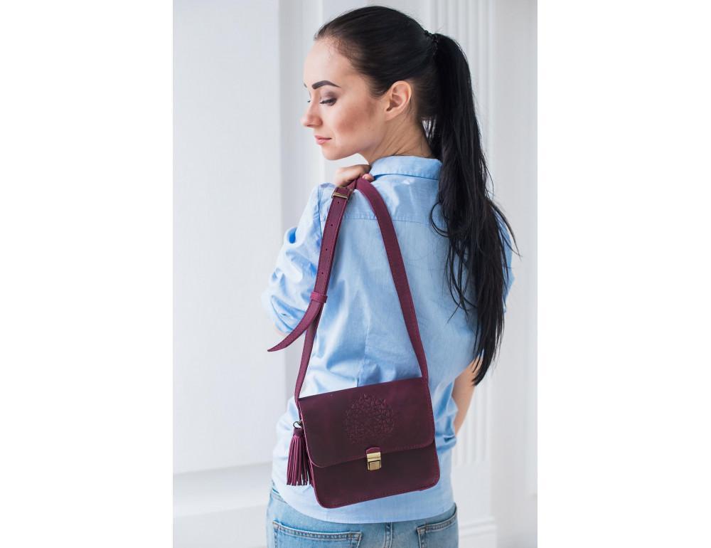 Женская сумка через плечо Blanknote BN-BAG-3-vin-man - Фото № 2