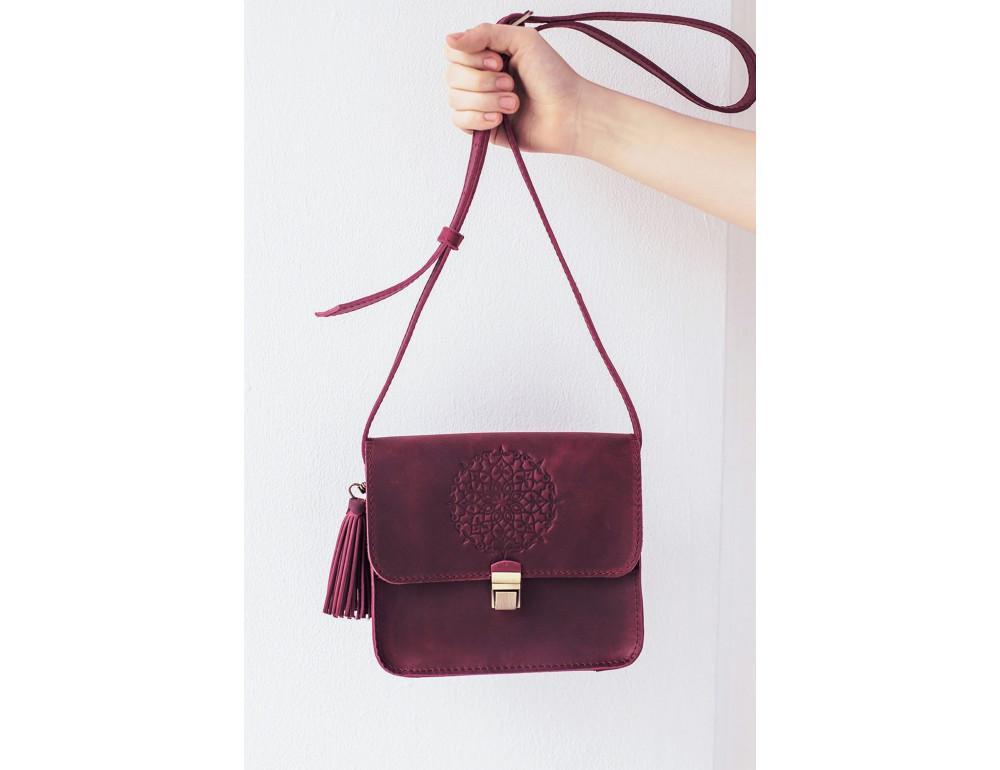 Женская сумка через плечо Blanknote BN-BAG-3-vin-man - Фото № 5