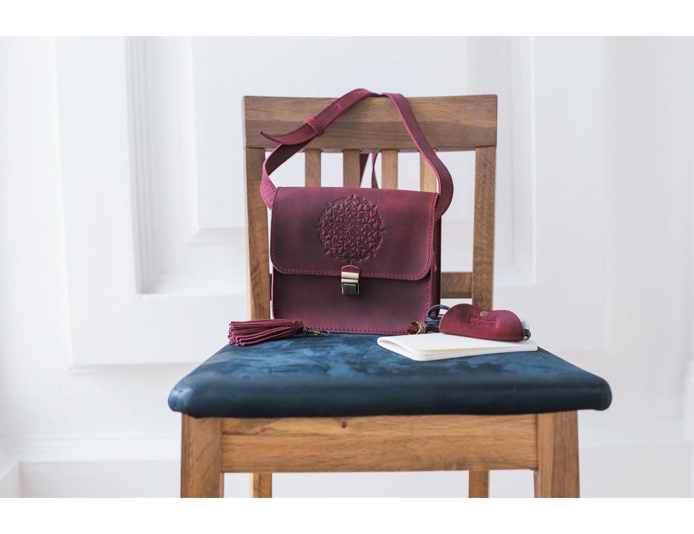 Женская сумка через плечо Blanknote BN-BAG-3-vin-man - Фото № 9