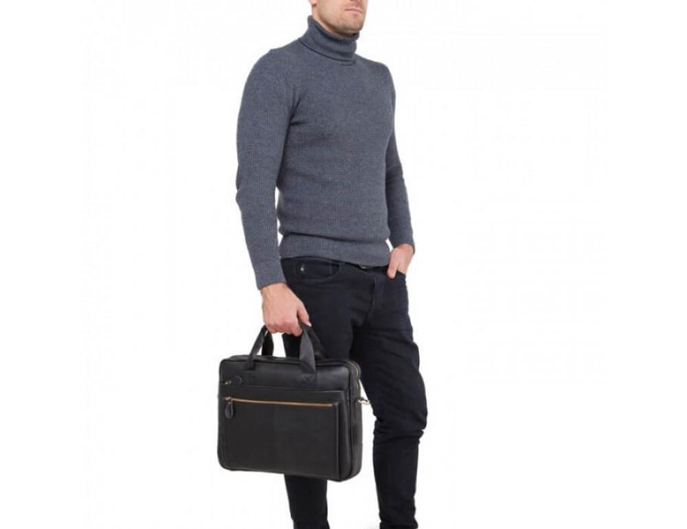 Мужская кожаная сумка под MacBook Bexhill BX1279A - Фото № 5