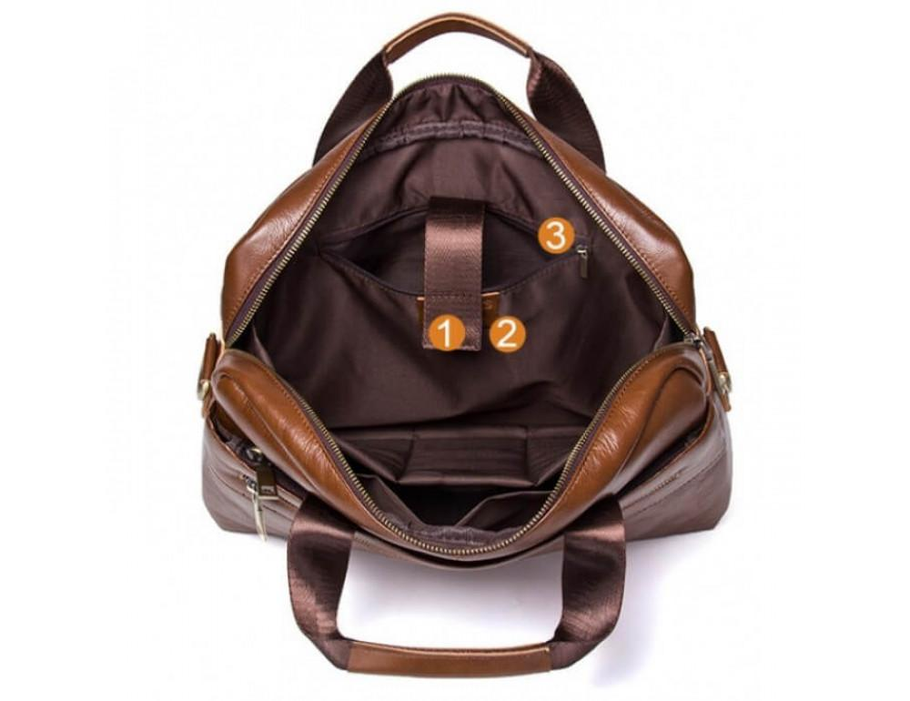 Мужская кожаная сумка под MacBook Bexhill BX1279C - Фото № 6