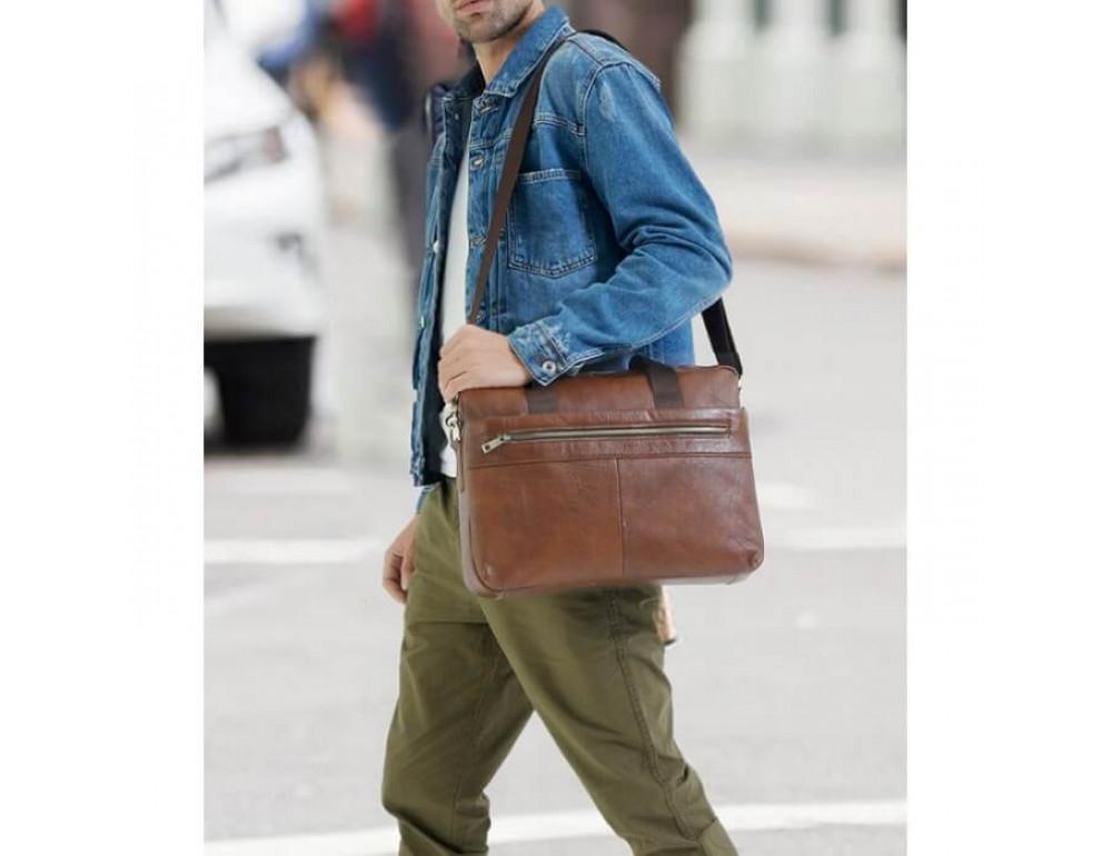 Мужская кожаная сумка под MacBook Bexhill BX1279C - Фото № 8