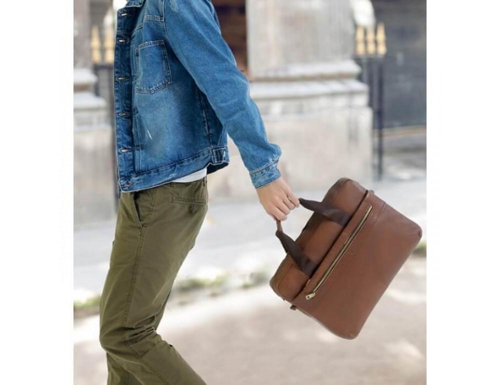 Мужская кожаная сумка под MacBook Bexhill BX1279C - Фото № 9