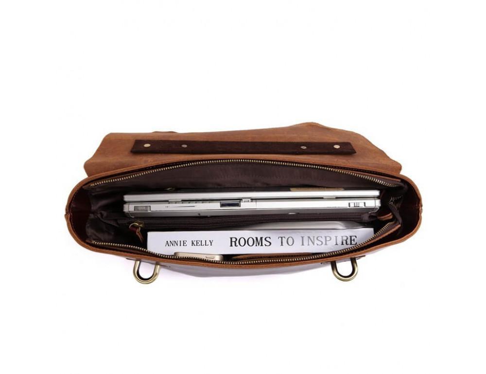 Мужской кожаный портфель TIDING BAG 7082A - Фото № 2