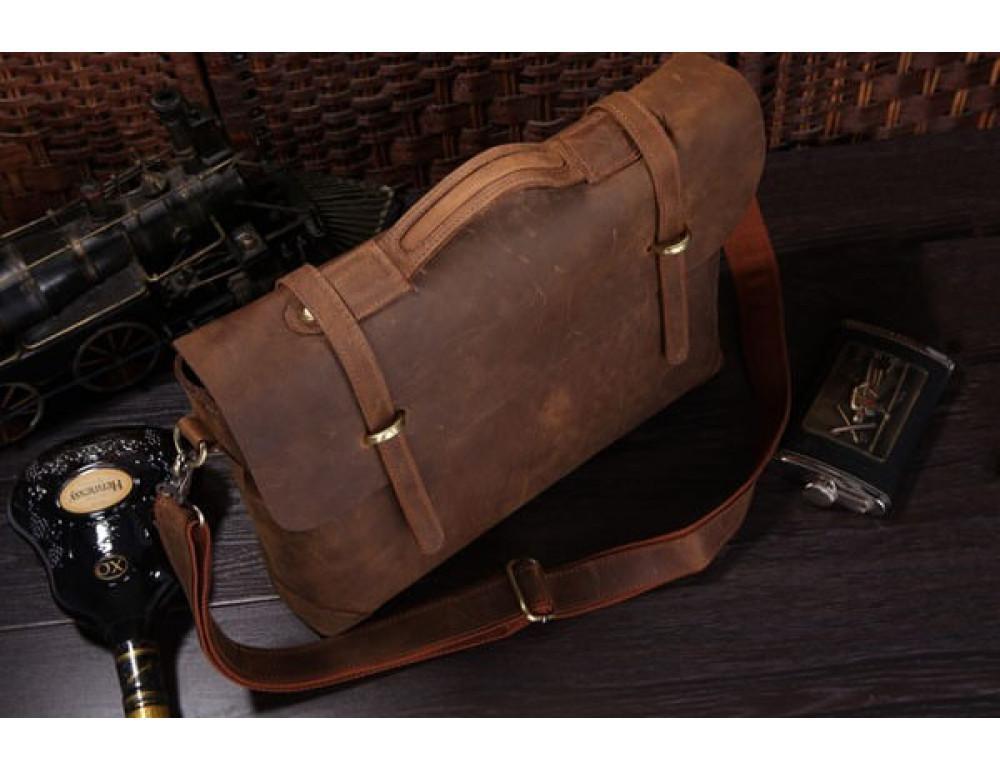 Мужской кожаный портфель TIDING BAG 7082R - Фото № 5