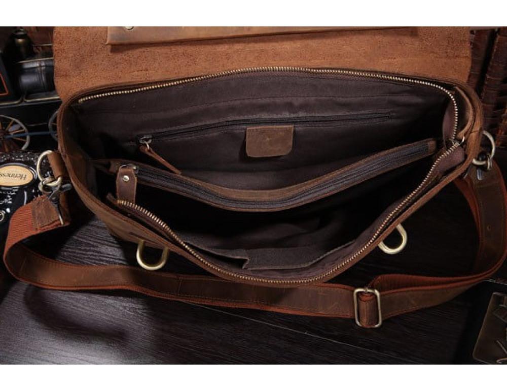 Мужской кожаный портфель TIDING BAG 7082R - Фото № 6