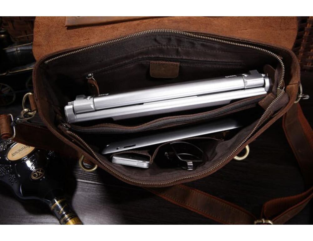 Мужской кожаный портфель TIDING BAG 7082R - Фото № 7
