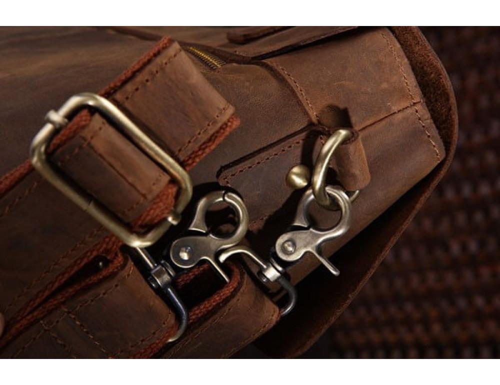 Мужской кожаный портфель TIDING BAG 7082R - Фото № 8