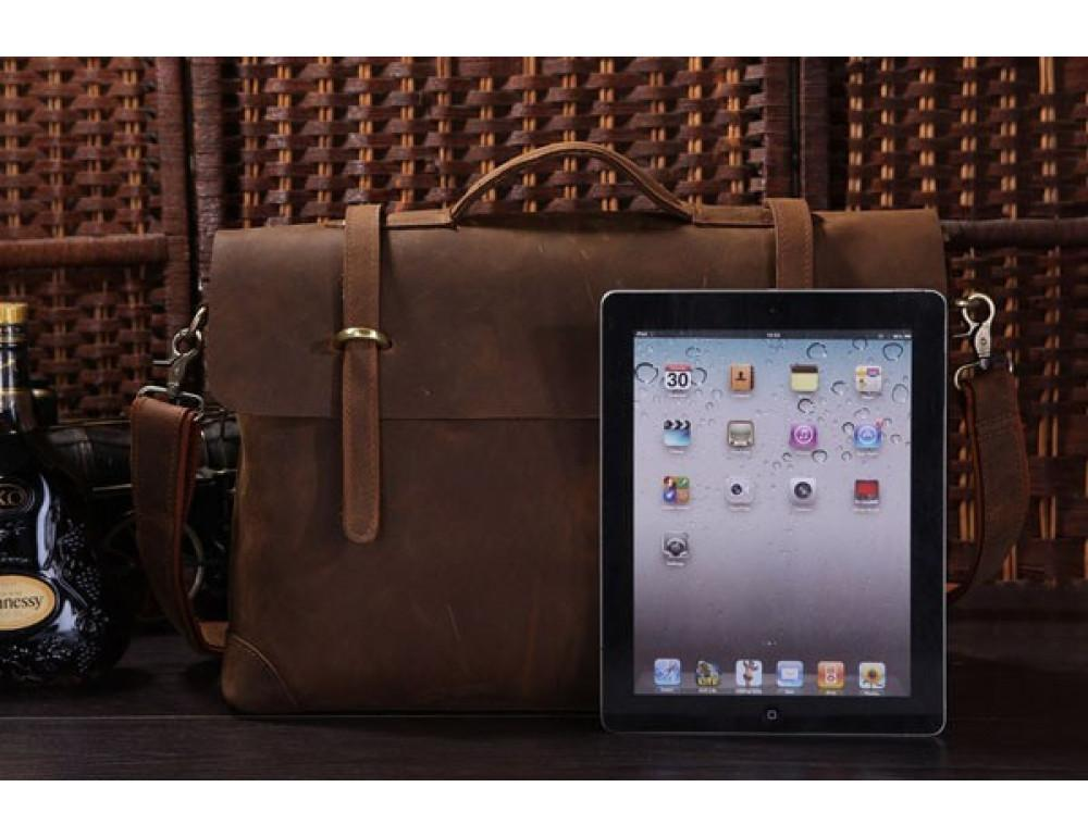 Мужской кожаный портфель TIDING BAG 7082R - Фото № 10