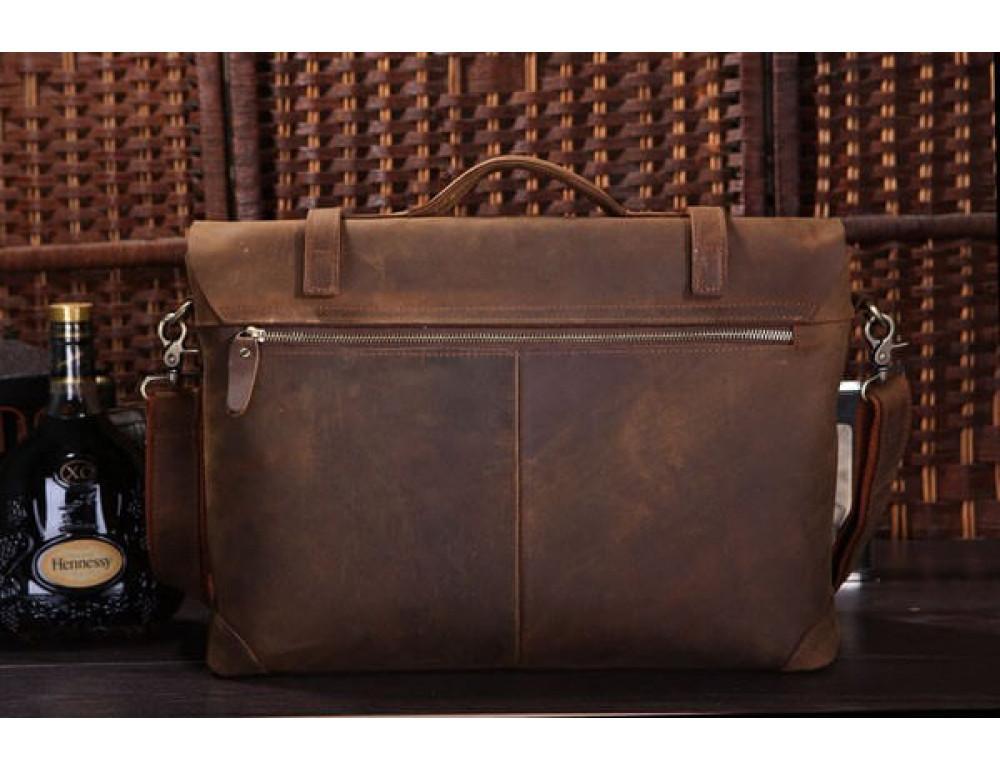 Мужской кожаный портфель TIDING BAG 7082R - Фото № 11