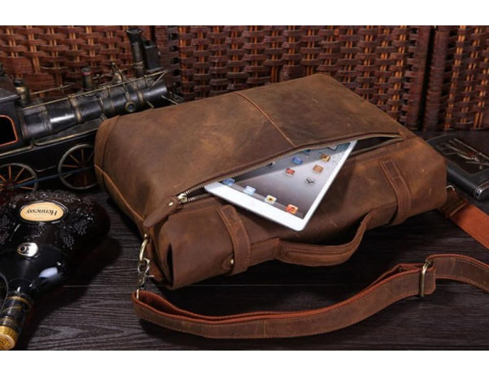Мужской кожаный портфель TIDING BAG 7082R - Фото № 2