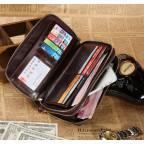 Темно-коричневий шкіряний клатч з двома відділеннями TIDING BAG 8025C - Фотографія № 104