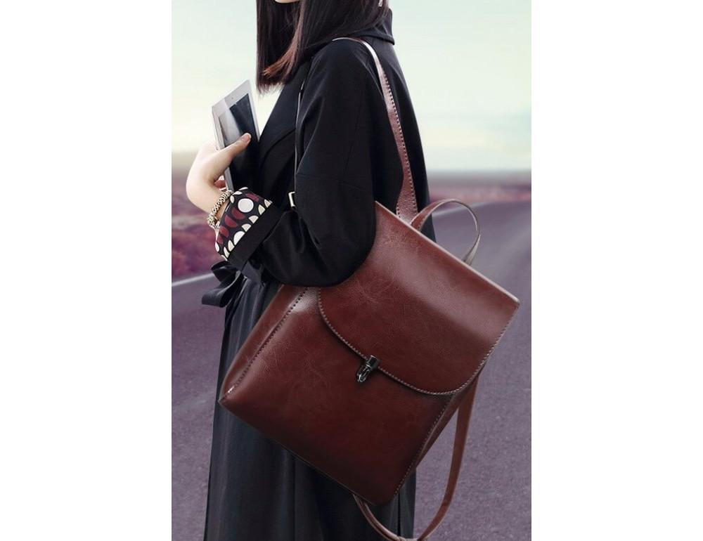 Жіночий шкіряний рюкзак Grays GR-8325B