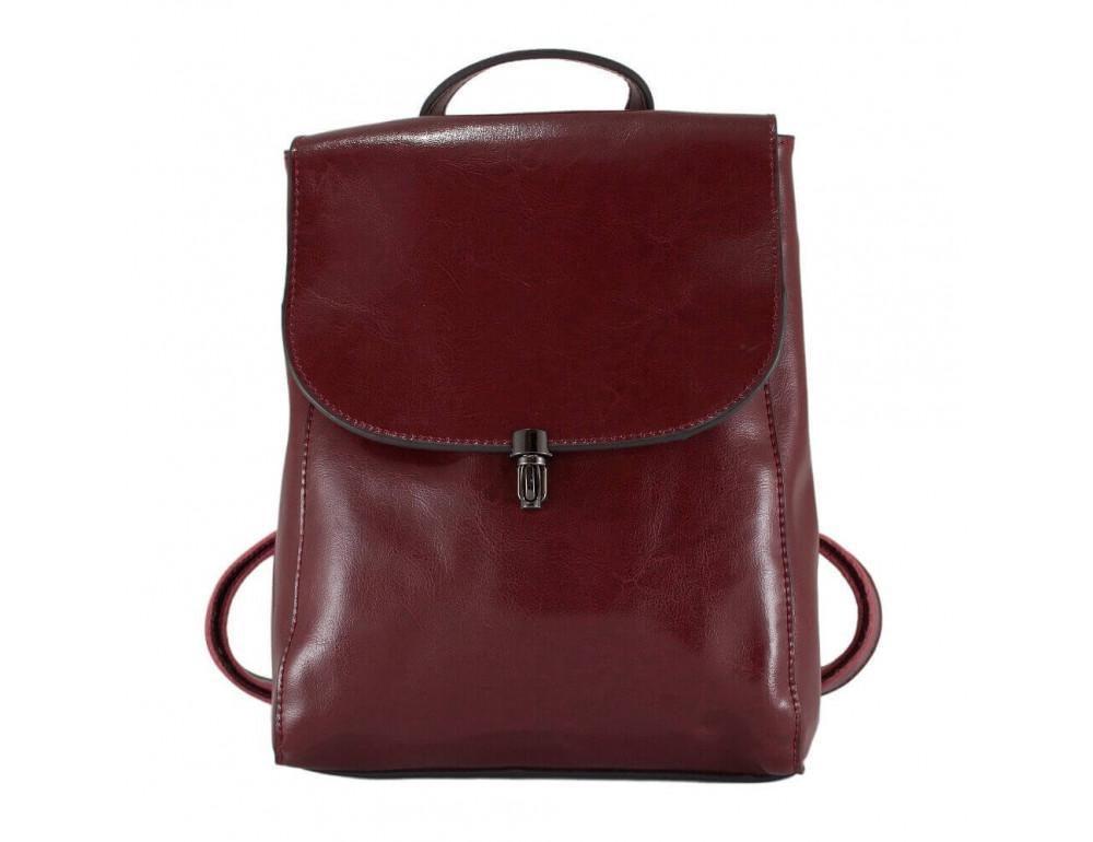 Женский кожаный рюкзак Grays GR-8325R тёмно-красный