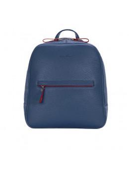 Женский темно-синий рюкзак из кожи Issa Hara BP3-13-15