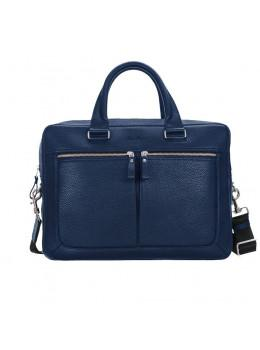 Мужской кожаный портфель Issa Hara B23-13-00 синий