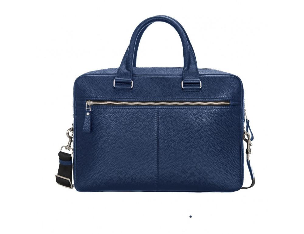 Мужской кожаный портфель Issa Hara B23-13-00 синий - Фото № 2