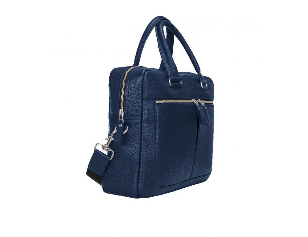 Мужской кожаный портфель Issa Hara B23-13-00 синий - Фото № 3
