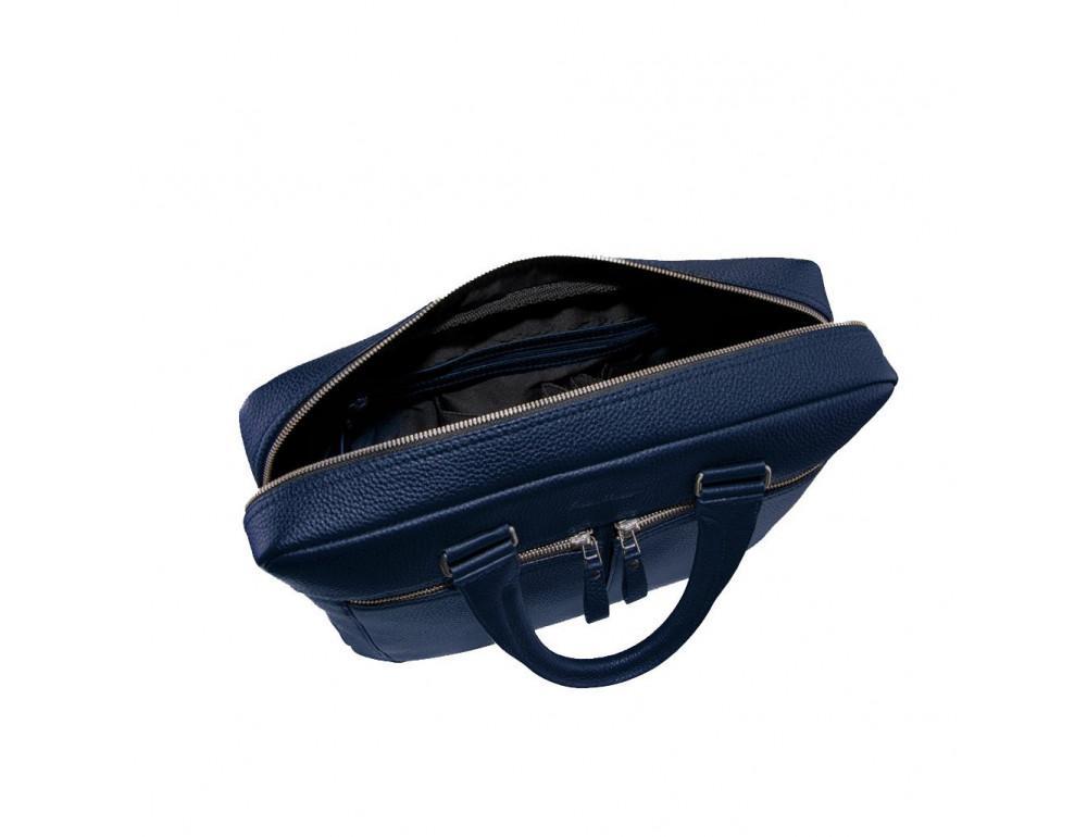 Мужской кожаный портфель Issa Hara B23-13-00 синий - Фото № 4