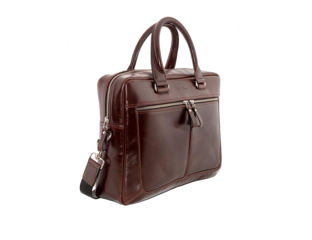 Вместительный кожаный портфель Issa Hara B23-92-00 - Фото № 4