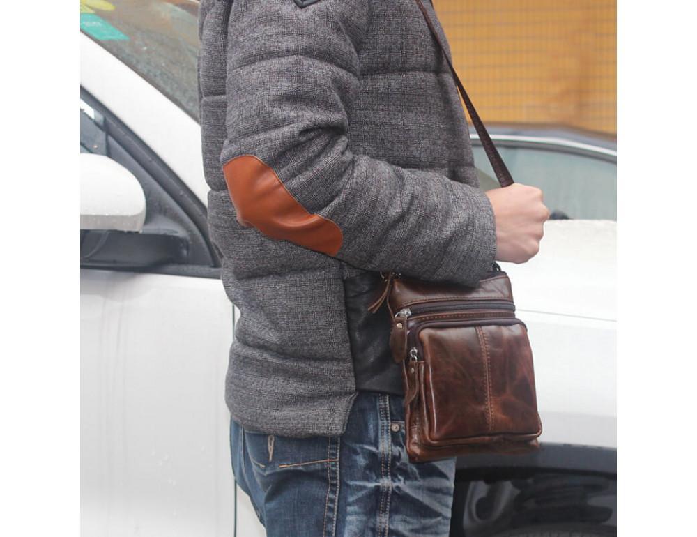 Мужская кожаная сумка-мессенджер Bexhill BX124 - Фото № 2