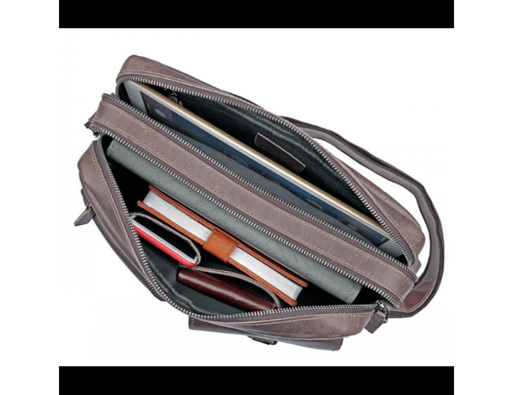Мужская кожаная сумка-мессенджер TIDING BAG 1017B - Фото № 2