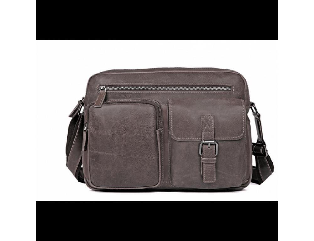 Мужская кожаная сумка-мессенджер TIDING BAG 1017B - Фото № 3