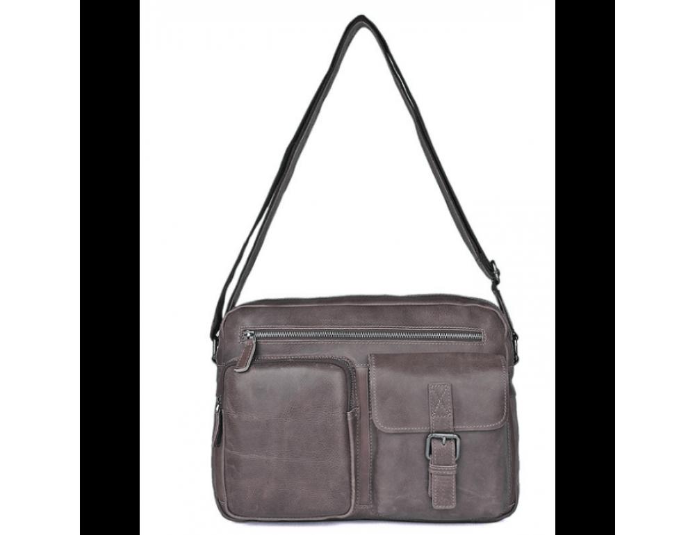 Мужская кожаная сумка-мессенджер TIDING BAG 1017B - Фото № 6