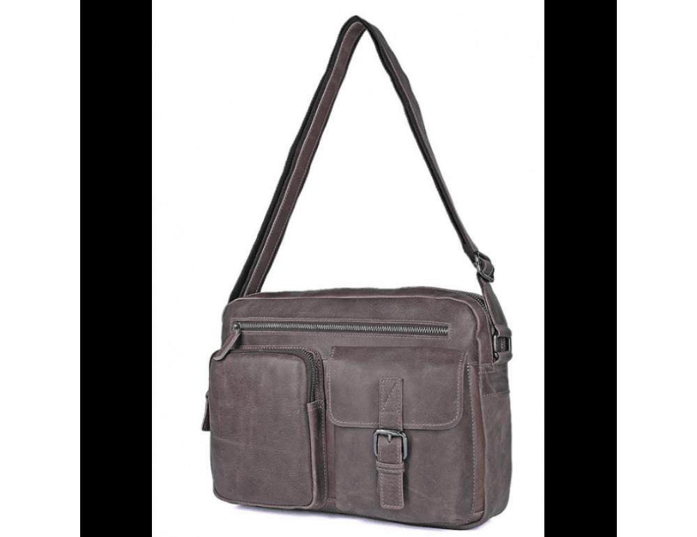 Мужская кожаная сумка-мессенджер TIDING BAG 1017B - Фото № 7