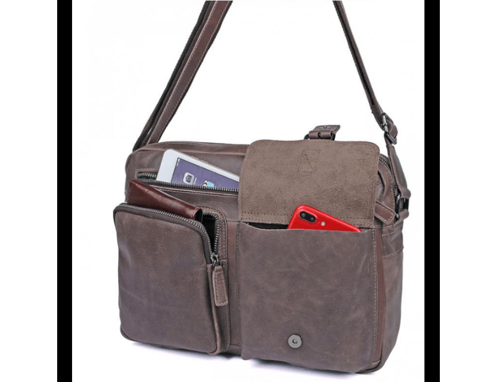 Мужская кожаная сумка-мессенджер TIDING BAG 1017B - Фото № 8